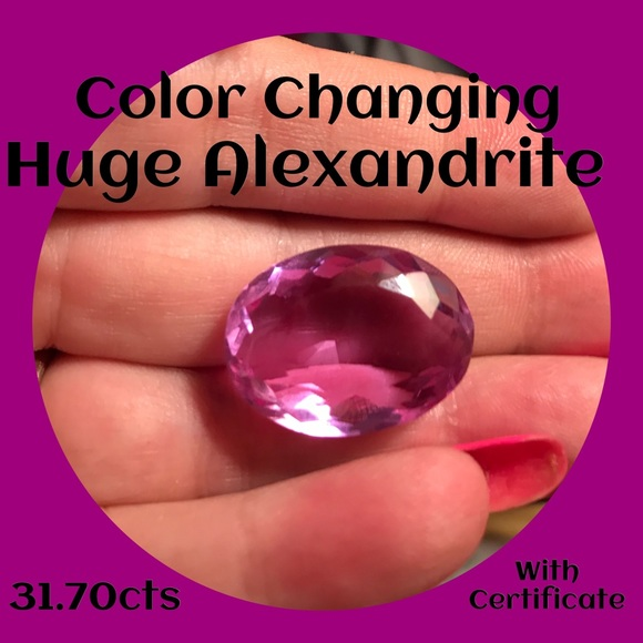 Jewelry - Real Natural Alexandrite Gemstone Loose